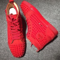 DCCK Cl Christian Louboutin Louis Spikes Style #1839 Sneakers Fashion Shoes