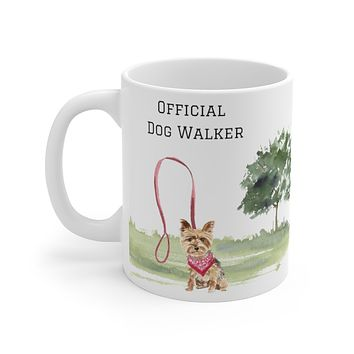 Official Dog Walker Mug — Yorkie