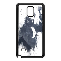 Wolf Song 3 Black Silicon Rubber Case for Galaxy Note 4 by Balazs Solti