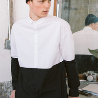 Your Neighbors Nils Colorblock Button-Down Shirt - Urban Outfitters