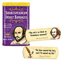 Shakespearean Insult Bandages for Curs, Scoundrels, and Wretches | Funny Bandages in a Metal Tin