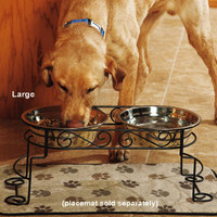 Dog Feeders & Bowls: Scroll Double Feeder at DrsFosterSmith.com