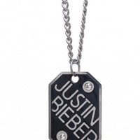Justin Bieber Bling Dog Tag Necklace