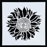 1Pcs Sunflower Shaped Reusable Stencil For Painting Art DIY Home Decor Scrap booking Album Crafts Free Shipping