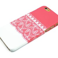 Sky2light,lace Flower Iphone 6 Case,floral Iphone 6 Cover,art Floral Iphone 6,girl's Gift 4.7 Inch Iphone Case
