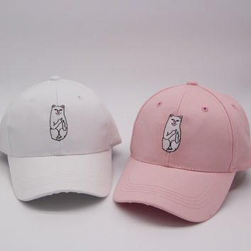 Fashion Hip-hop Korean Embroidery Baseball Cap Cats Summer Stylish Hats = 4850000004