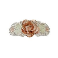 Rose Black Hills Silver Women's Ring from Coleman - Size 10.5
