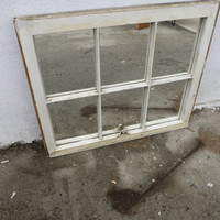 Reclaimed 6 pane window mirror