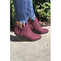 New Seasons Booties- Garnet