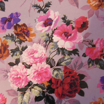 Vintage French Flowers Decoupage Paper, Wrapping Paper, Paper Pattern, Pink Roses 8.5 x 11