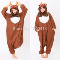 Animal Costume Christmas Deer Onesuit Pajama Adult Halloween Carnival Party Clothing