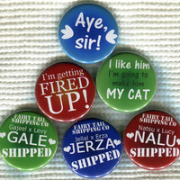 """1.25"""" Fairy Tail anime quote Pinback Button"""