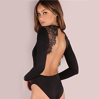 Magnetic Backless Lace Bodysuit