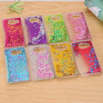 Dynamic Liquid Bling Star Quicksand  Samsung Galaxy A3 A5 A7 2016 J5 J7 Grand Prime S4/S5/S6/S6 Edge/S7 Edge