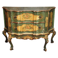 Painted Two Drawer Venetian Commodini