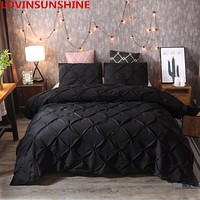 luxury Pinch Pleat bedding comforter bedding sets bed linen duvet cover set Pillowcases bedding queen king size bedclothes