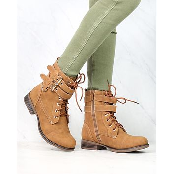 Susan Military Style Buckle Accent Boots in More Colors