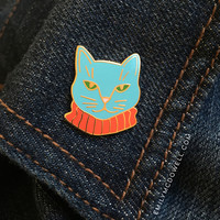 Dapper Cat Enamel Pin
