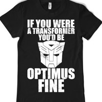 Optimus Fine Dark-Female Black T-Shirt L |