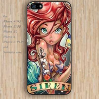 iPhone 5s 6 case colorful anchor mermaid phone case iphone case,ipod case,samsung galaxy case available plastic rubber case waterproof B402