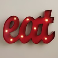 """Eat"" LED Marquee Sign"