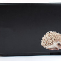 Hedgehog Vinyl Laptop or Automotive Art FREE SHIPPING pets small pet notebook sticker computer sticker laptop decal hedgehog art