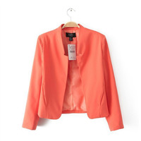 Candy Color Long Sleeve Blazers
