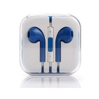 Blue Headset Headphones Earphones Volume Remote+Mic For Apple iPhone 4 iPhone 4S iPhone 5 iPhone 5S iPhone 5C iPod touch iPod nano iPod shuffle iPad 2/3/4 (Size = 1696615556