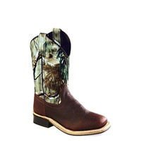Old West Youth Camo Corona Square Toe Boots - BSY1816
