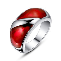 Stainless Steel Red Epoxy Ring
