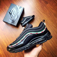 NIKE AIR MAX 97 men and women tide fashion casual shoes F Black