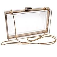 Luxury Acrylic Fashionable Transparent Evening Clutches Shoulder Bags Handbag for Women