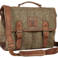 One Kings Lane - The Prepster - Harris Tweed Satchel, Tan
