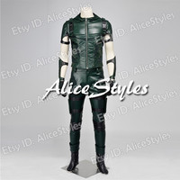 Newly Green Arrow Season 4 Oliver Queen Cosplay Costume Custom made in any size