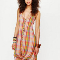 Free People FP New Romantics Knotted Ikat Dress at Free People Clothing Boutique