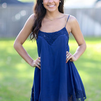 Simply Me Dress - Navy