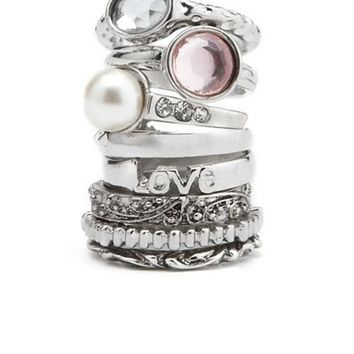 All Stacked Up Ring Set: Charlotte Russe