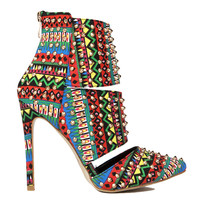 STUD PASSION TRIBAL BOOTIE - MULTI