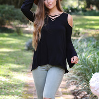 Perfect Latice Cold Shoulder Top