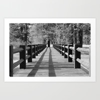 Bridge in black and white Art Print by Liveart4evr