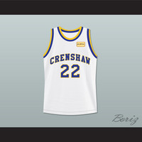 Quincy McCall 22 Crenshaw High School Basketball Jersey with Love and Basketball Patch