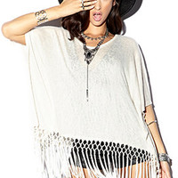 Boho Beauty Fringe Sweater