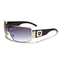 Sport Rectangle Shield Oversized Unisex Sunglasses