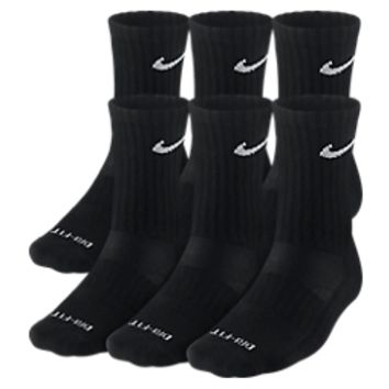 Nike Dri-fit Crew 6-pack Socks- Medium | Finish Line