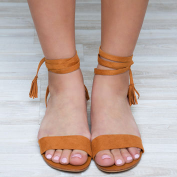 Stay In Charge Sandals - Tan