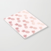 Rose Gold Pineapple Pattern Notebook by tanyalegere