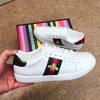Gucci fashion casual shoes small white shoes