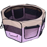 "49.2"" Portable Pet Playpen 