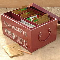 seed tin organiser by freshly forked   notonthehighstreet.com