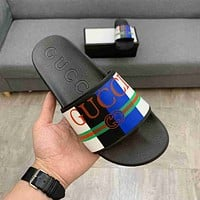 GG New Fashion Men's Double G Slippers Shoes